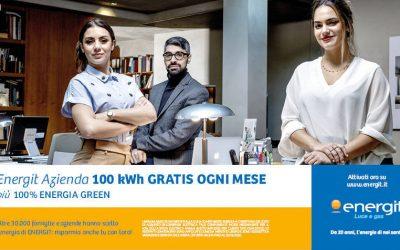La campagna pubblicitaria per Energit: da 20 anni la nostra energia